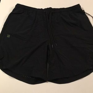 Grand AC Double Layer Gym Running Shorts L